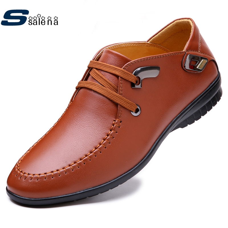Boys Casual Shoes Flats Men Leather Shoes Good Quality Working Shoes AA30075 male casual shoes soft footwear classic men working shoes flats good quality outdoor walking shoes aa20135