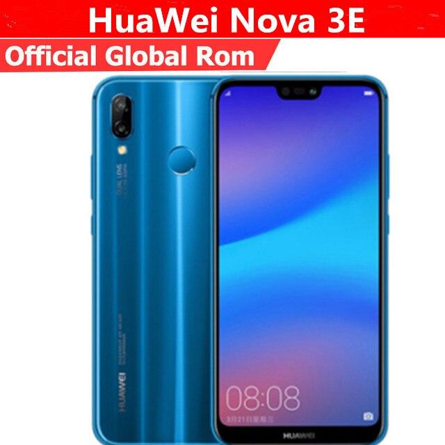 """Глобальной прошивки HuaWei Nova 3e P20 Lite 4G мобильный телефон стандарта LTE на ОС Android 8,0 5,85 """"FHD 2280X1080 4G B Оперативная память 6 4G B Встроенная память Face ID 24.0MP FM"""