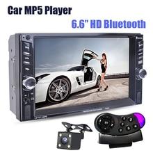 """Новый 6.6 """"дюймовый ЖК-дисплей сенсорный экран автомагнитолы mp5 плеер Bluetooth MP4 MP3 Audio 1080 P фильм Поддержка камера заднего вида 2 Din Car Audio"""