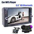 "NUEVO 6.6 ""pulgadas LCD de pantalla Táctil de coches radio reproductor mp5 BLUETOOTH mp4 mp3 audio 1080 P película Apoyo cámara de visión trasera 2 din car audio"