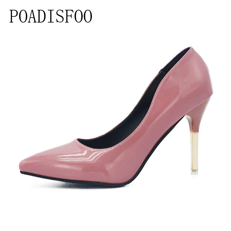 POADISFOO New high-heeled Shoes With Sexy Tip Europe And The United States Spring And Autumn Nightclub Wholesale Shoes .XXXY-305 2017 newinferior smooth pointed high women s shoes with ankle boots fine low europe and the united states pointe