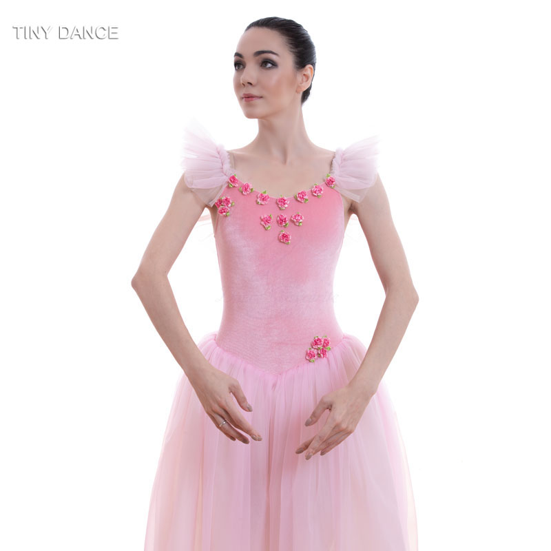 b348d35708 Pale Pink/White Soft Tulle Long Ballet Tutu Dress Romantic Tutus Ballerina  Dance Costume for Child and Adult 18582-in Ballet from Novelty & Special  Use on ...