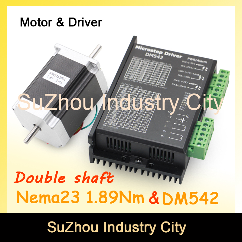 NEMA 23 CNC Stepper Motor 57x76mm dual shaft  1.89N.m 270Oz-in 3A for CNC and 3D printer & DM542 Microstep 256 1.0-4.2A DC24-50v 3d model relief for cnc in stl file format animals and birds 2