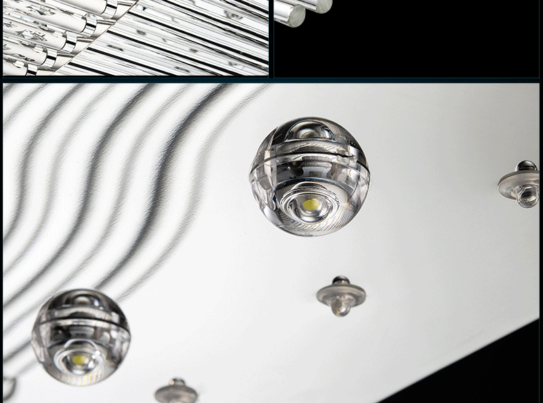 Luxury 4 Color Smooth Sailing Led Lamp K9 Crystal Modern Square Led Ceiling Lights (19)
