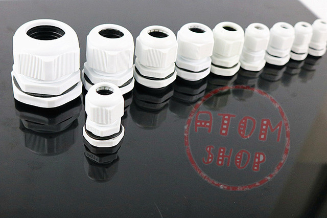 Promotion vente PG7 câble glande connecteur étanche en Nylon plastique pour 3-6.5mm câble CE haute qualité avec anneau en caoutchouc 10 pièces gratuit