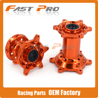 Orange CNC Machined 36 Holes Front And Rear Wheel Hub For KTM EXC250 EXC525 SX125 SX250 SX F 450 350 EXC200 2003 2018
