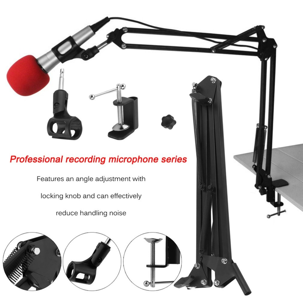 Wholesale Professional Mic Recording Bracket Microphone Suspension Boom Arm Stand Holder For Studio Broadcast Black