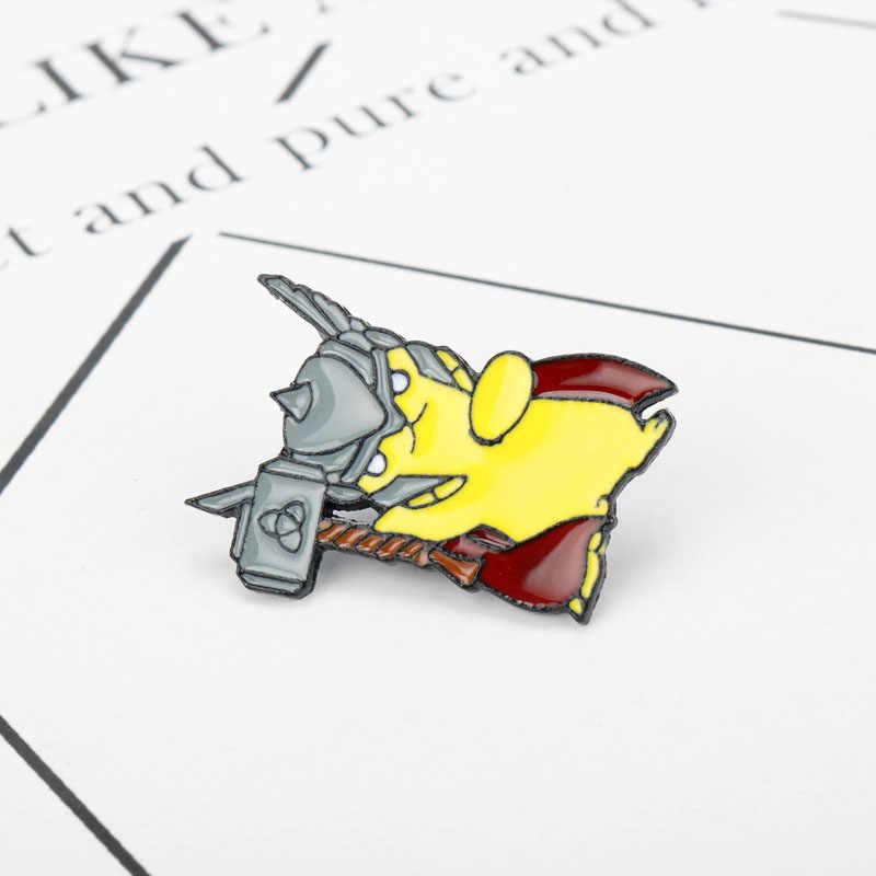 Del fumetto di Pikachu Martello Spilla e Dello Smalto Spilli Pokemon Distintivo per Gli Uomini e Le Donne Zaino Accessori Regalo Dei Capretti