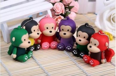 cartoon cute monkey usb flash drive 2.0 Flash Memory Stick Drive U Disk Festival Thumb/Car/Pen Gift 4GB-64GB S399