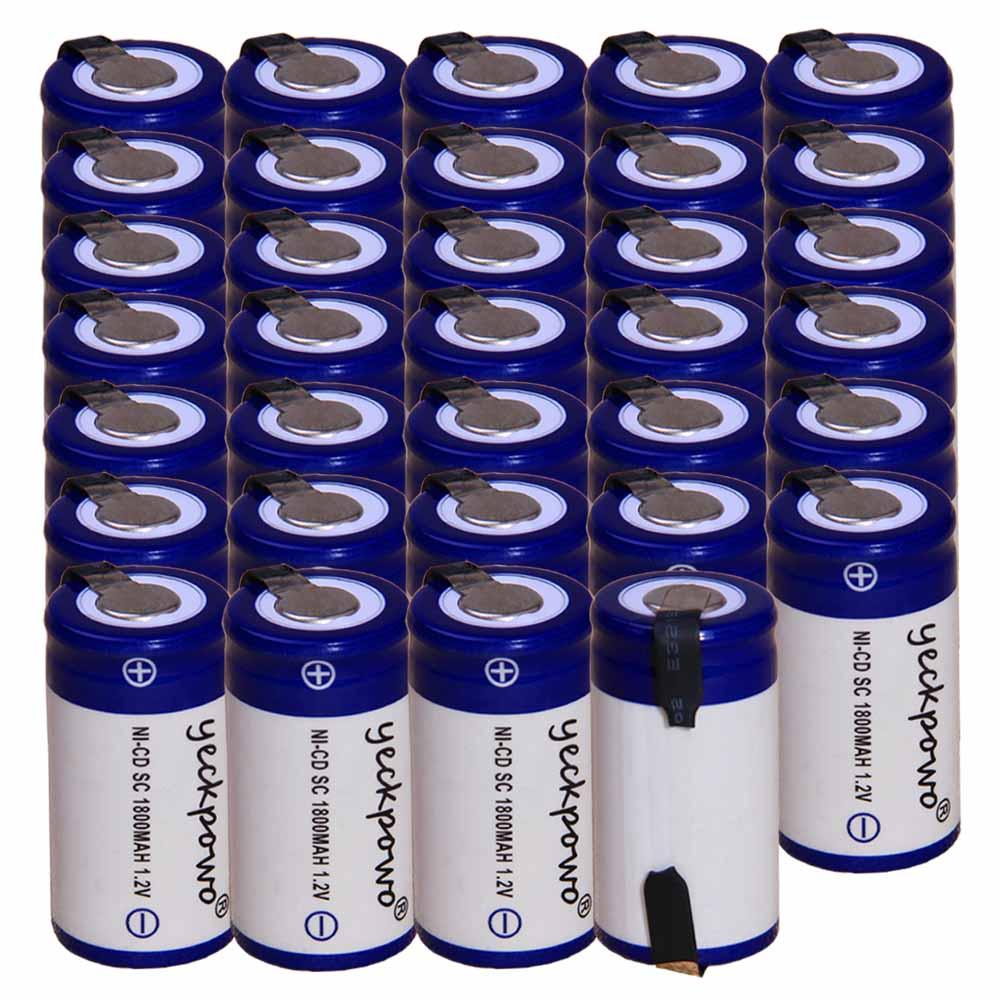 Outils électriques batteries 34 pièces SC batterie 1.2 v batteries rechargeables 1800 mAh nicd batterie pour tournevis