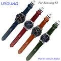 Для Samsung Gear S3 Классический/Forntier натуральная кожа ремешок для часов 22 мм smart watch браслет quick release
