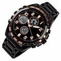 Властная новая Автоматическая водонепроницаемые часы Мужчины Мода Досуг мужские качества знаменитые часы роскошные наручные часы военная винтаж