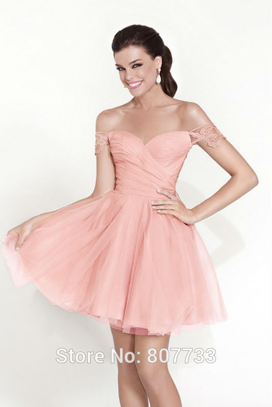 W502 Sweet with lace off the shoulder peach color western style ...