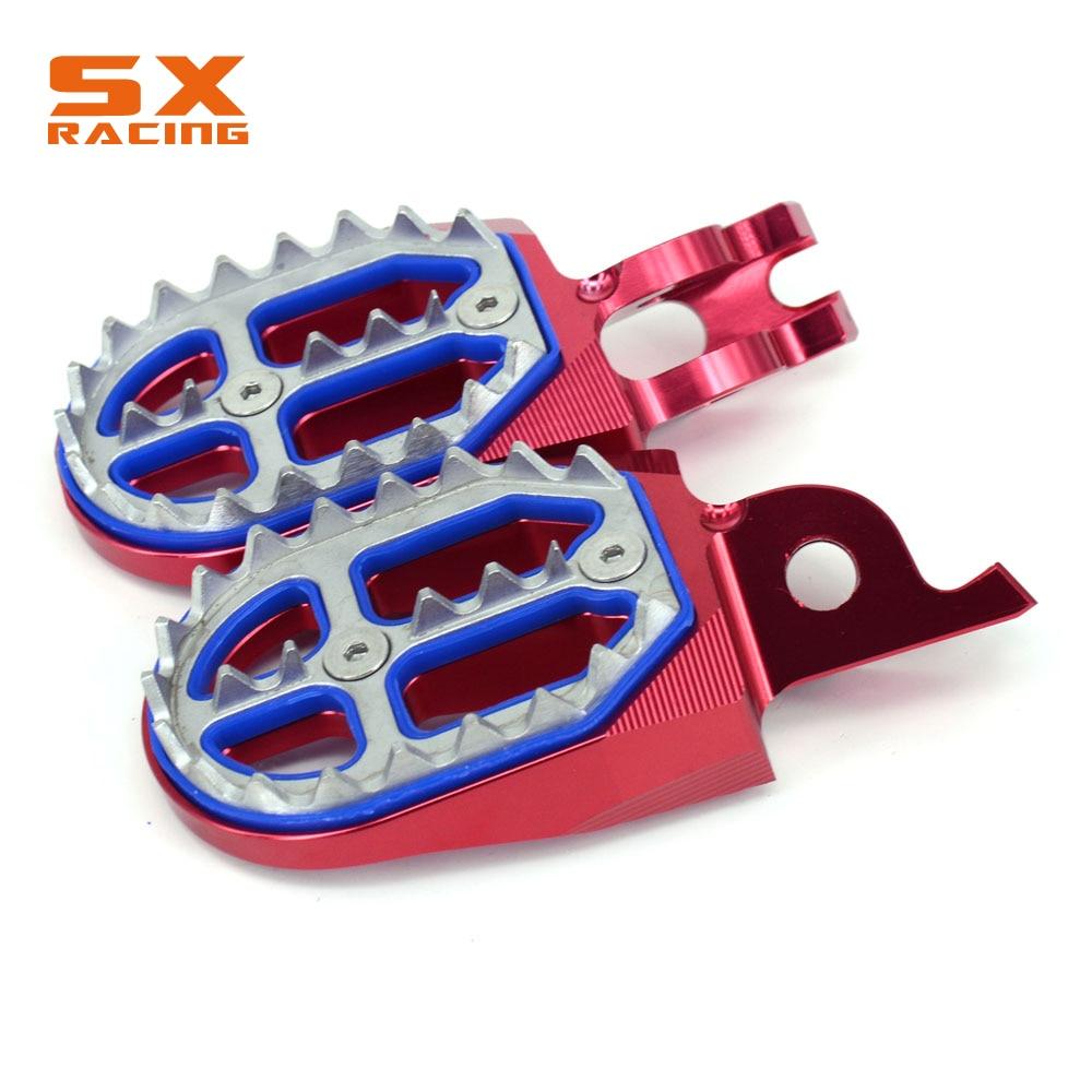 Billet CNC Race Foot Pegs Footrest fits HONDA CR125 250 CRF250X 450X KFX250 450