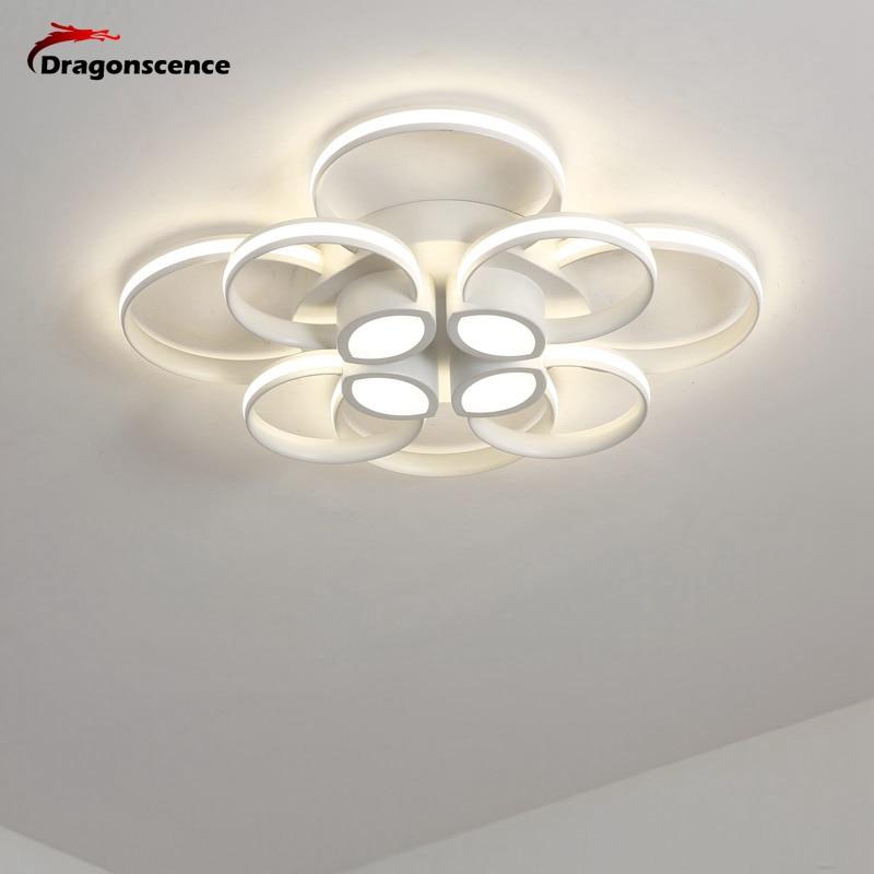 Dragonscence LED Circle Modern Chandelier Lights For Living Room Aluminum lamps Lampara de techo Large indoor Lighting