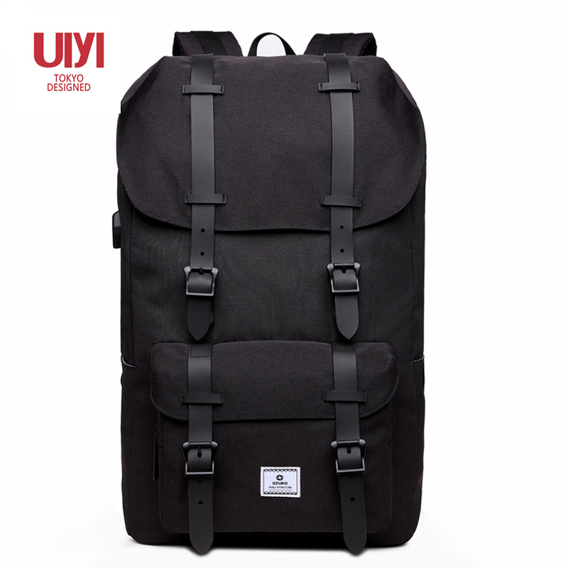 New multifunctional men s backpack travel creative fashion Oxford casual portable large capacity USB charging bag