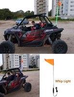 KEMiMOTO Whip Light 5ft LED Flag Pole Safety Antenna Whip Lights For Sand Dune Buggy UTV
