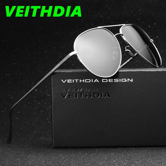 Veithdia logotipo de la marca original accesorios espejo de conducción masculina gafas de sol gafas uv400 gafas de sol polarizadas para hombres