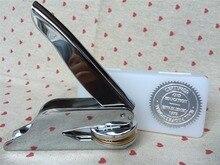 Angepasst Präge stempel persönliche logo, Personalisierte Embosser Dichtung Briefkopf Hochzeit custom design Gaufrage punch Stempel HQ