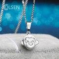 Мода Девушки Дети Подарок Ювелирные Изделия Симпатичный Кулон циркон посеребренная Ожерелье подвески Животных Жена подарок на день рождения