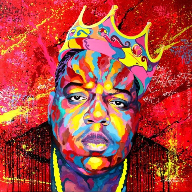 TOP COOL GOOD Notorious Big PRINT Art Work Oil Painting On Canvas