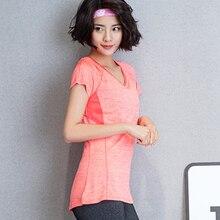 Быстросохнущая Спортивная футболка для фитнеса и бега, высокое качество, женские спортивные футболки для йоги, женская футболка с коротким рукавом, женские топы
