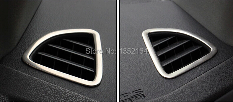 free shipping auto interior air conditioning vent trims for mitsubishi asx stainless steel auto. Black Bedroom Furniture Sets. Home Design Ideas