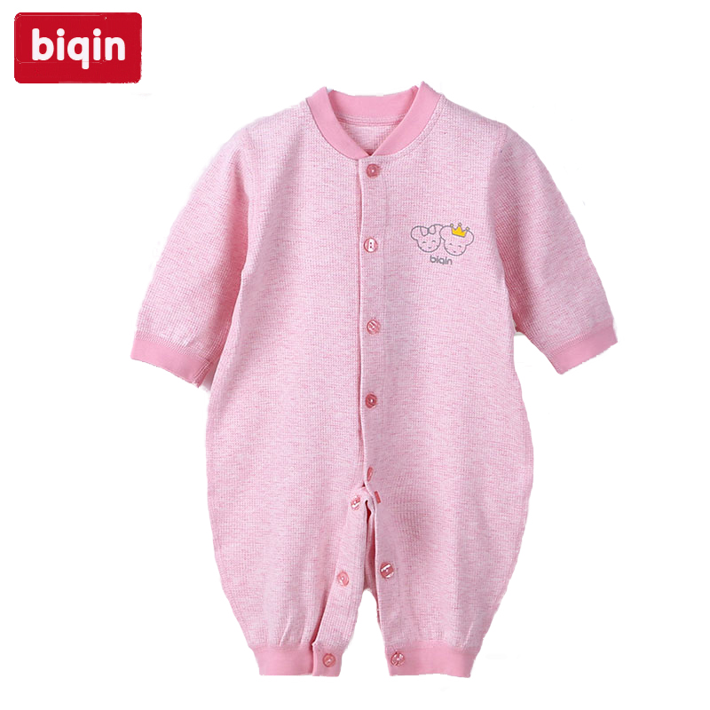 Biqin 6M-9M baby children kids clothing  girls rompers boys rompers Spring Autumn cotton warm Rabbit Rompers