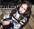 Lavensey Otoño Del Resorte de Rayas Niñas Vestido de Media Manga de la Muchacha de la Navidad Vestido de Una Pieza 3-14 Años Para Niños Ropa de Niños ropa