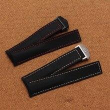 Durable plegado hebilla de despliegue de la Nueva correa de Nylon de Alta calidad hecha a mano Negro 20mm 22mm 24mm Correa de Reloj Reloj accesorios