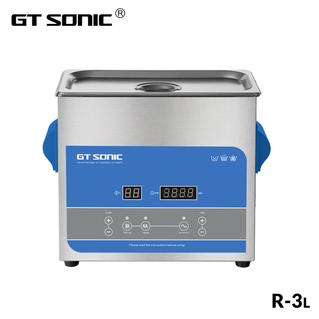 GTSONIC R3 بالموجات فوق الصوتية الأنظف 3L 100 واط مع شاشة ديجيتال التدفئة Degas سلة حمام بالموجات فوق الصوتية