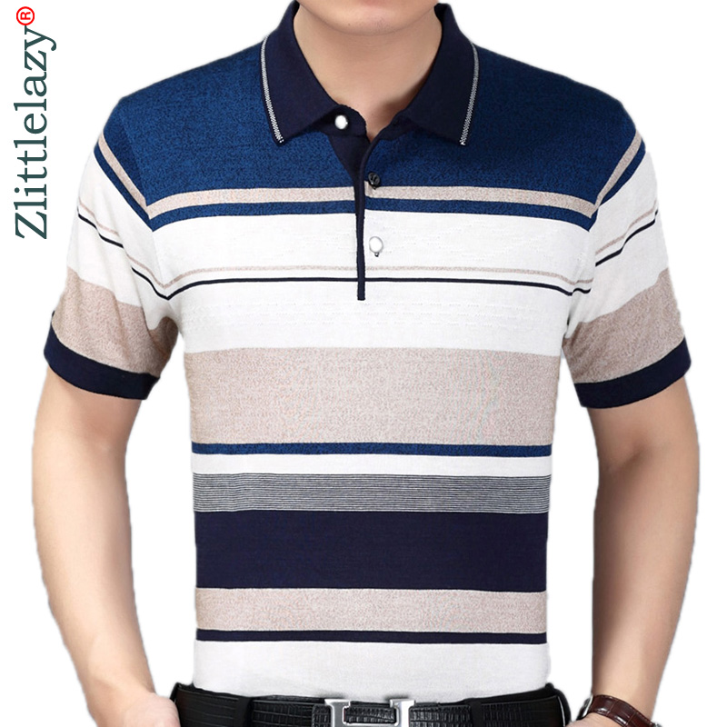 2019 summer short sleeve knitting   polo   shirt men clothes striped fashions   polos   tee shirts pol cool mens clothing poloshirt 700