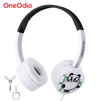 Original Oneodio Cute Kids Headphones For Girls Boys Gifts Lovely Cartoon Panda Stereo Wired Headband Earphone