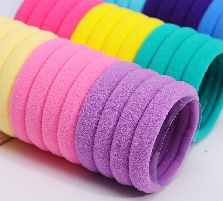 10pcs lot kids Candy Fluorescence Colored Hair Holders High Quality Rubber Bands Hair Elastics Accessories Girl Women Tie Gum in Hair Accessories from Mother Kids