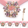 2016 Top Quality Elegant Multicolor Brooch Jewelry Luxury Rhinestone Garland Scarf Clip Brooches Pin up 5TTA 6SIV 7FGW 7N9G