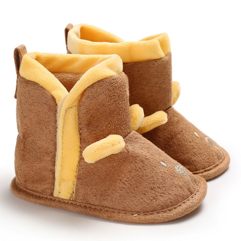 Newborn Baby Boots Winter Super Warm Patch Boot For Baby Girls Boys Lovely Soft Bottom Indoor Baby Shoes