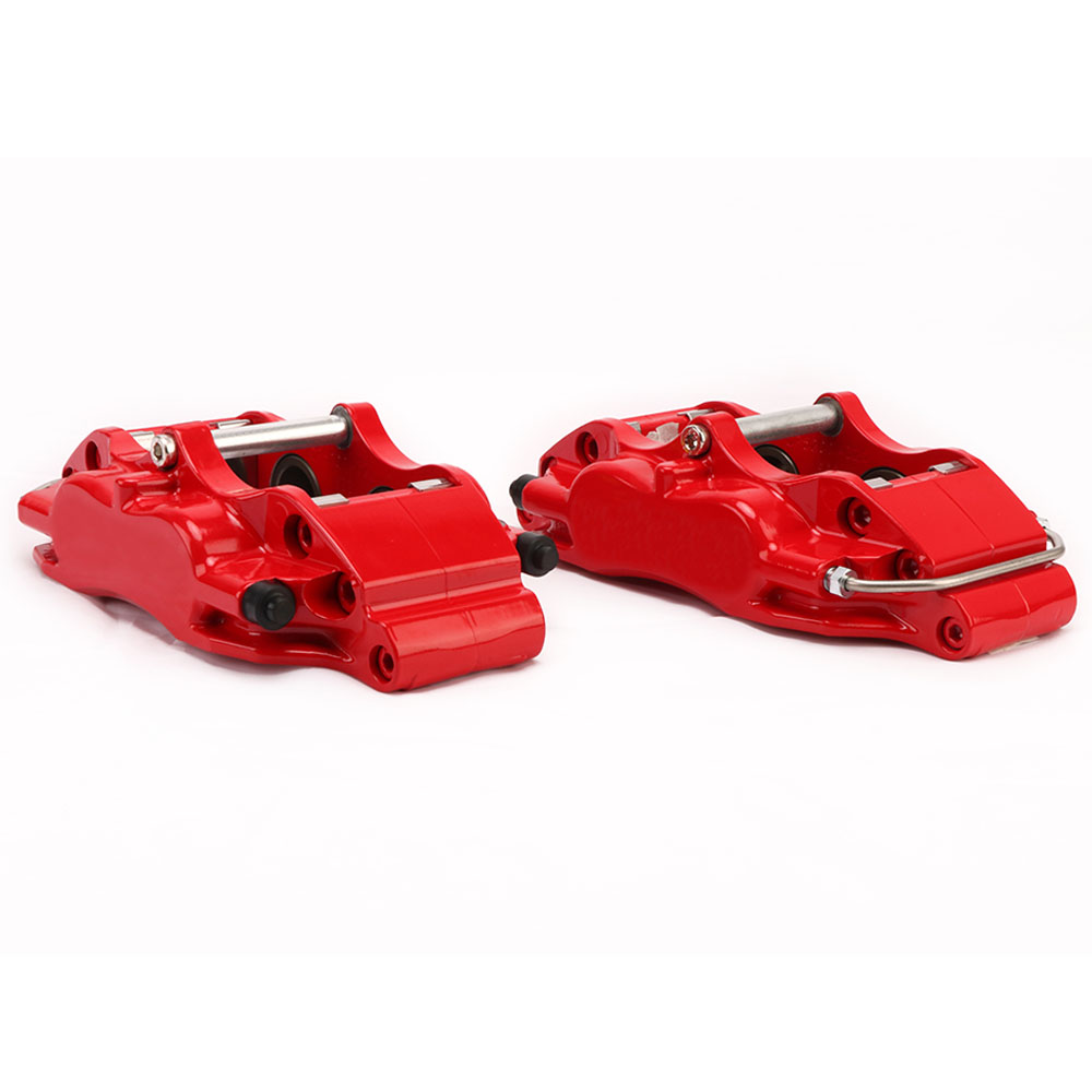 KOKO RACING WT5200 4 piston brake caliper red color 330*28mm brake disc with front wheel 17 inches for Honda civic ep3 2003 2 pair universal car 3d style disc brake caliper covers front rear