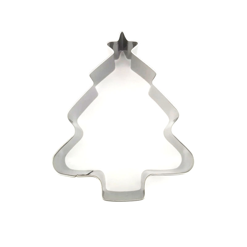 AMW Kerstboom Cookie Cutter RVS Koekjesvorm Keuken Bakken - Keuken, eetkamer en bar