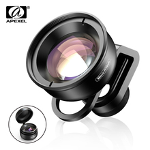 APEXEL HD optic camera phone lens 100mm macro super lenses for iPhonex xs max Samsung s9 all smartphone