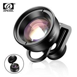 Apexel hd lente do telefone da câmera óptica 100mm macro lente super lentes macro para iphonex xs max samsung s9 todos os smartphones