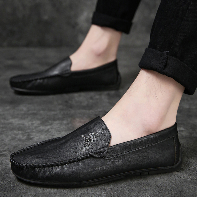 Men's Genuine Leather Loafers Shoe