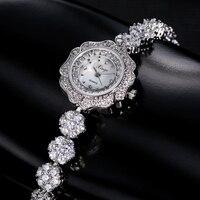 Xinge Topmerk Vrouwen Luxe Stalen Horloge Zilver Dames Jurk Quartz Polshorloge Vrouwen Armband Fashion Horloge 30 CM Waterdicht