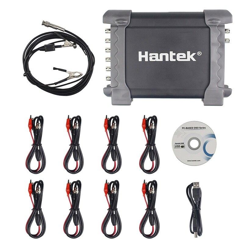 Hantek 1008c/1008a 8 canais gerador programável 1008c osciloscópio automotivo digital multime armazenamento usb osciloscopio