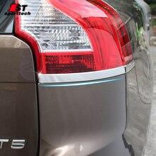 Стайлинга автомобилей задние лампы стикер для Volvo XC60 собачка из нержавеющей стали плафон Стикеры хрома стиль для 2009-2019 аксессуары