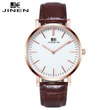 Jinen caja de oro rosa de aleación de alta calidad del negocio de los hombres relojes deportivos reloj del relogio masculino de luxo de primeras marcas de lujo reloj