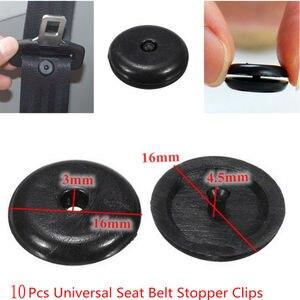 Image 5 - SEKINNEW 10Pcs Car Parts Black Plastic Car Safety Seat Belt Stopper Spacing Limit Buckle Clip Retainer Seatbelt Stop Button