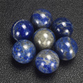 Lapis Lazuli Crystal Shpere 2 pcs 20 mm Gemstone Hand Massager Crystal Healing Chakra Reiki Balls Natural Stone Body Massage