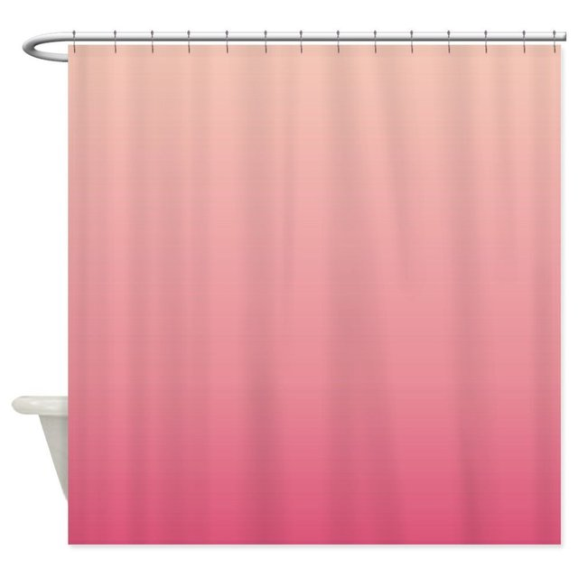 peach pink ombre Shower Curtain Decorative Fabric Shower Curtain ...