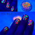 1 Box Nail Glitter Multicolor 1mm-2mm Mixed DIY Decoration Mini Round Thin Paillette Design Nail Art Glitter 8150859