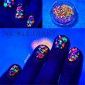 1 Caixa Prego Glitter Multicolor 1mm-2mm Mista DIY Decoração Mini Rodada Paillette Fina Projeto Da Arte Do Prego brilho 8150859